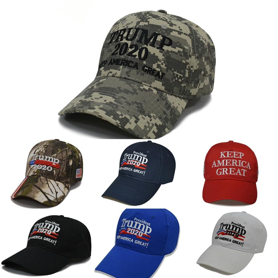 Unisex Açık Beyzbol Şapkası Trump 2020 Kampanyası Beyzbol şapkası Usa 45 Amerikan Bayrağı 3D İşlemeli Ayarlanabilir Snapback Şapka # 426