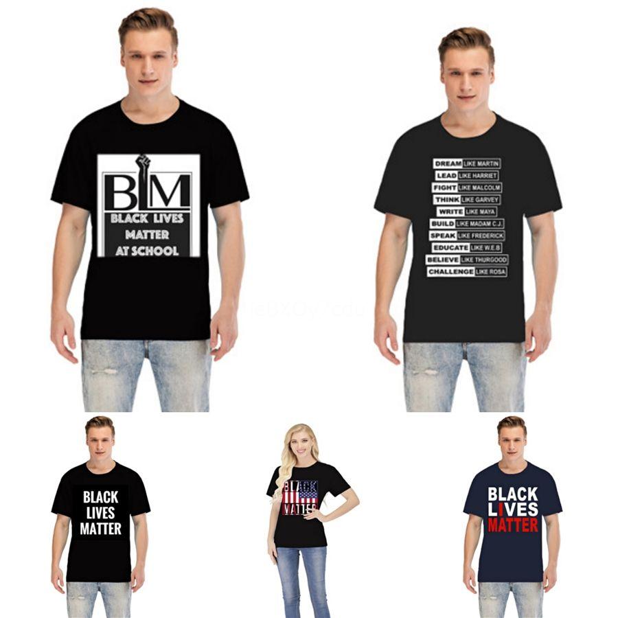 Negro Materia Vidas! Mens de lujo diseñador de la camiseta mujeres de los hombres de alta calidad de la camiseta del algodón de la nueva manera para hombre de diente de tiburón de impresión camiseta # 54168
