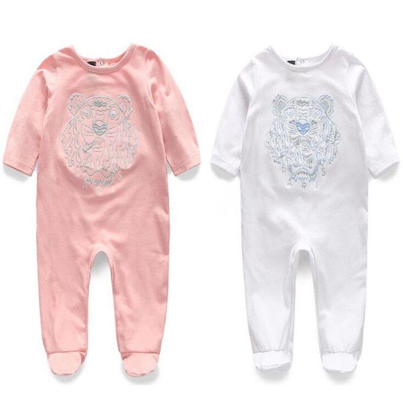 Frühling Sommer Langarm Baumwolle Strampler Baby Body Kleidung Kinderkleidung Cartoon Tierbaby Mode Mädchen Overall Strampler