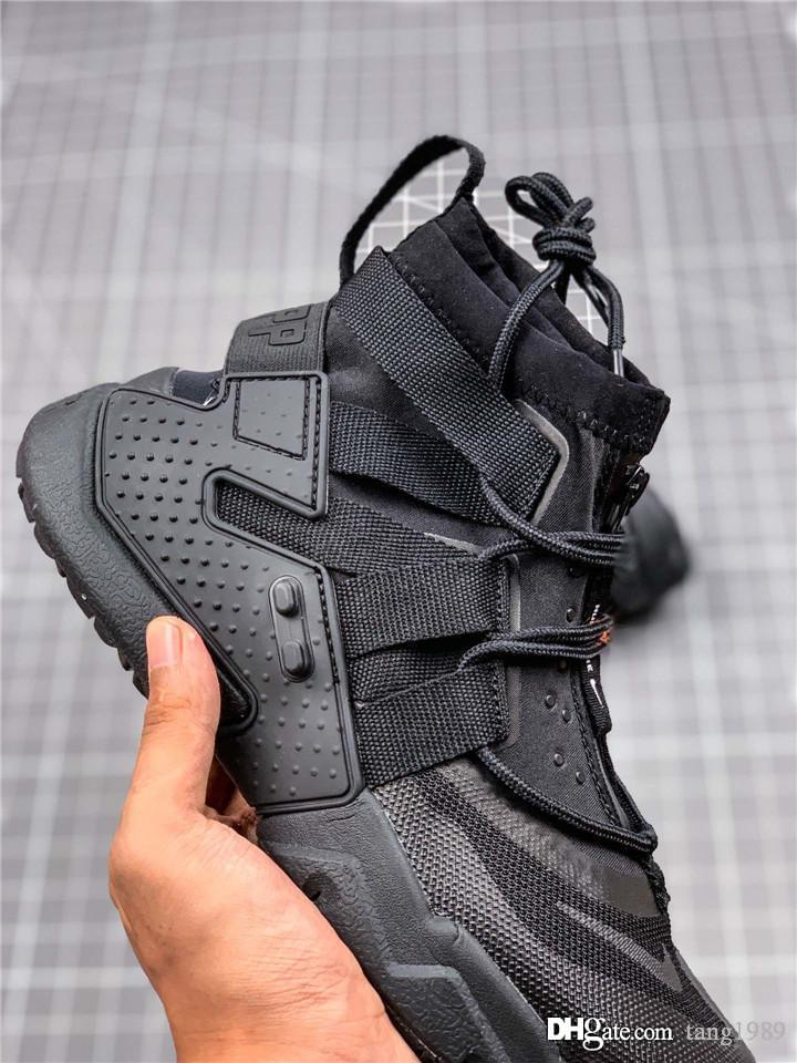 2019 The New Huarache Gripp Sail QS Men's high-top sneakers Huaraches Running shoes High-top belt casual shoes Size 40-45