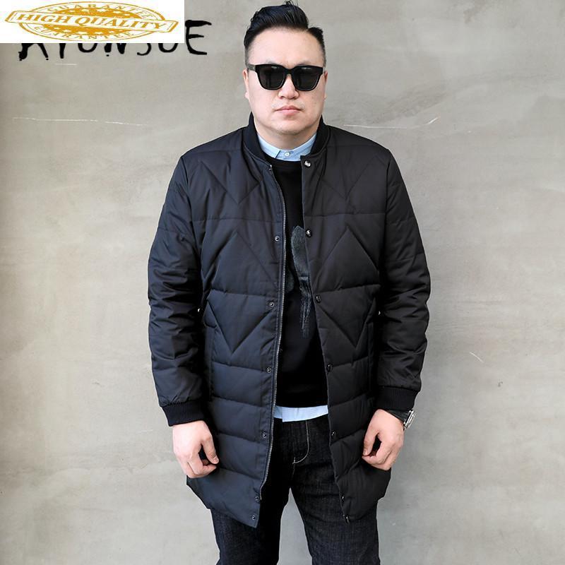 Kış Coat Erkekler Kore Beyaz Aşağı Ceket Sıcak Parka Artı boyutu Puffer Ceket Erkekler Down Coat Casaco 8601-1 YY1334 Ördek