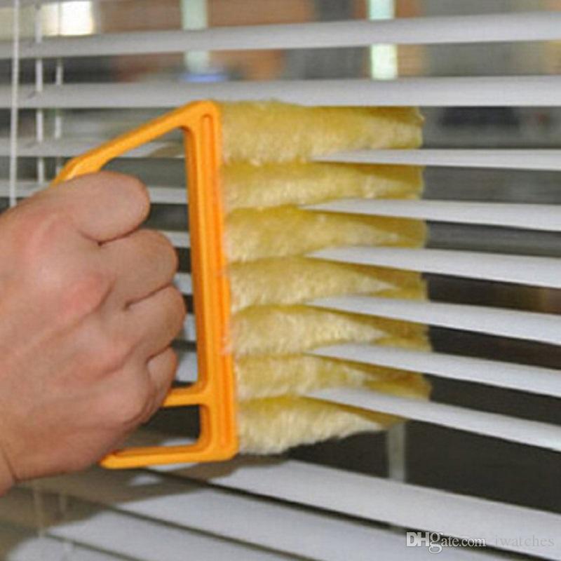 Las persianas venecianas cepillo de limpieza de microfibra de 2 colores práctica de lavado desmontable productos de higiene doméstica de limpieza cepillo de envío libre