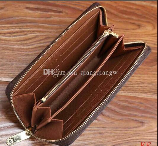 Tragamonedas de largo con monedero real mujer zippy tarjeta de crédito caliente de alta calidad de cuero cuero caja clásica adicional con billetera Whxin
