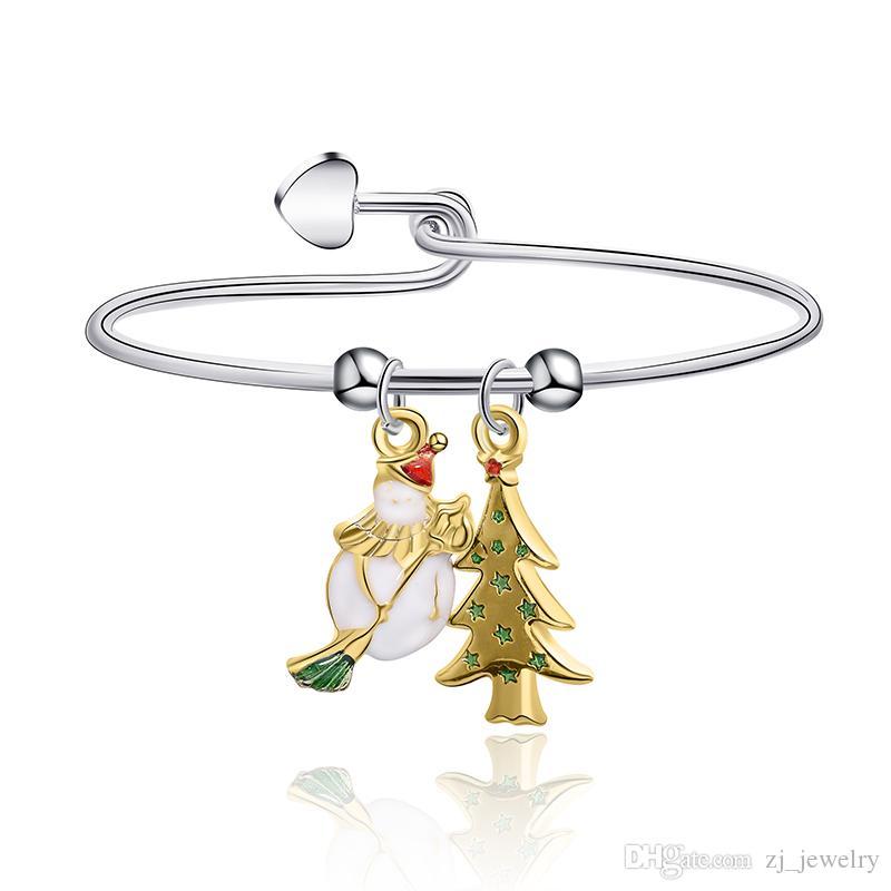 Meirenpeizi de Navidad colgante lindo regalo pulsera de mujer niños del regalo de la pulsera de la joyería de la aleación de tendencia de la personalidad