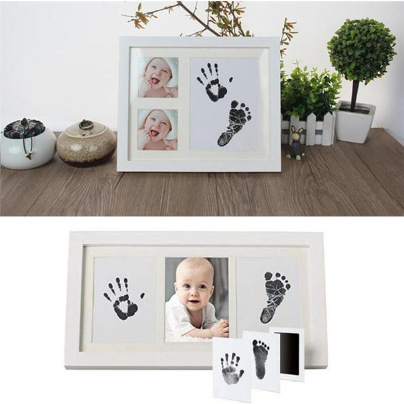 6 Farben Non-Toxic-Baby Handabdruck Fußabdruck Impressum Kit Baby Care Casting Eltern-Kind-Hand-Fuß-Stempel Infant Keepsakes Spielzeug YYA16