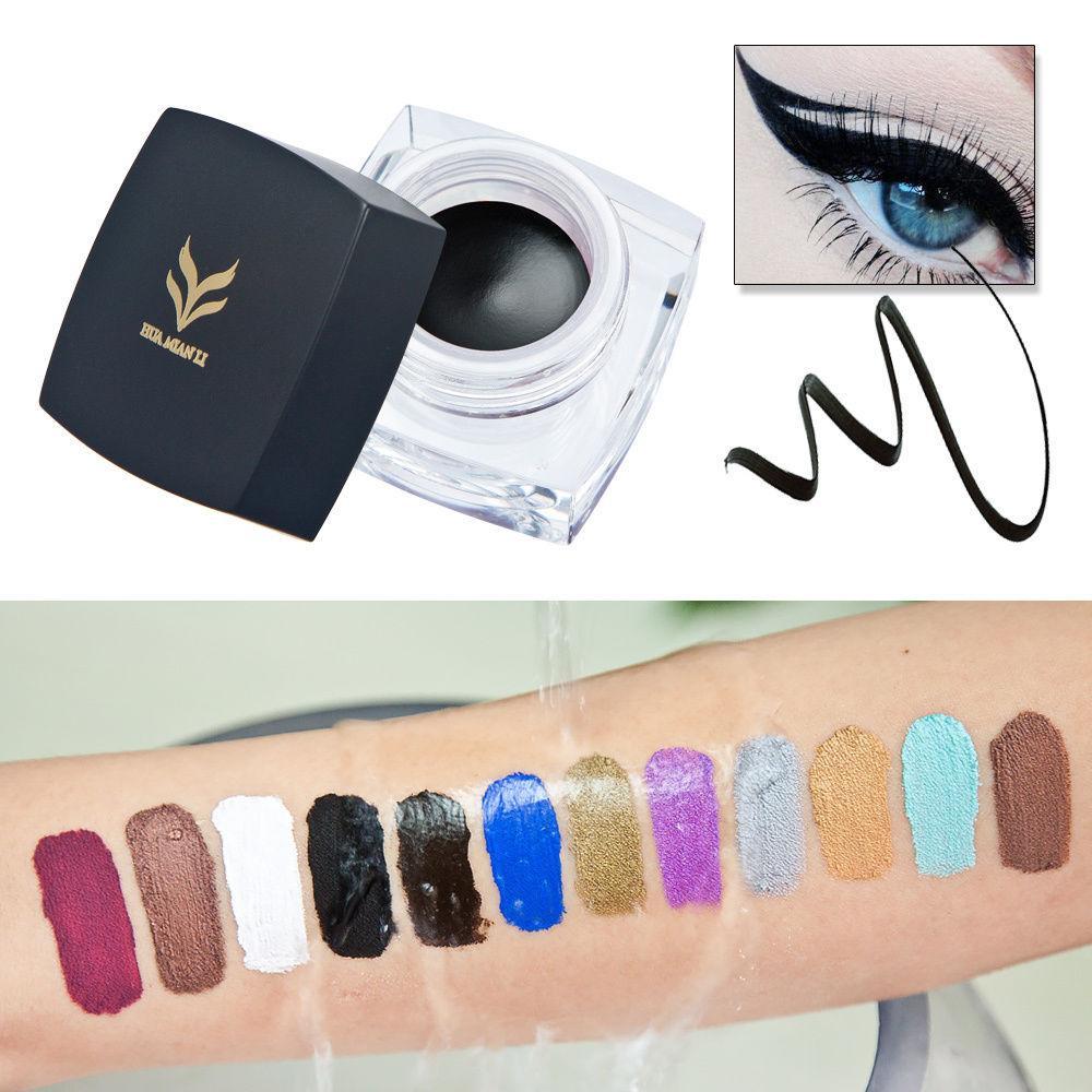 Big Sale Eyeliner Gel 24 Hour Long-lasting Eye Liner Gel Waterproof Makeup Purple Green Eyliner