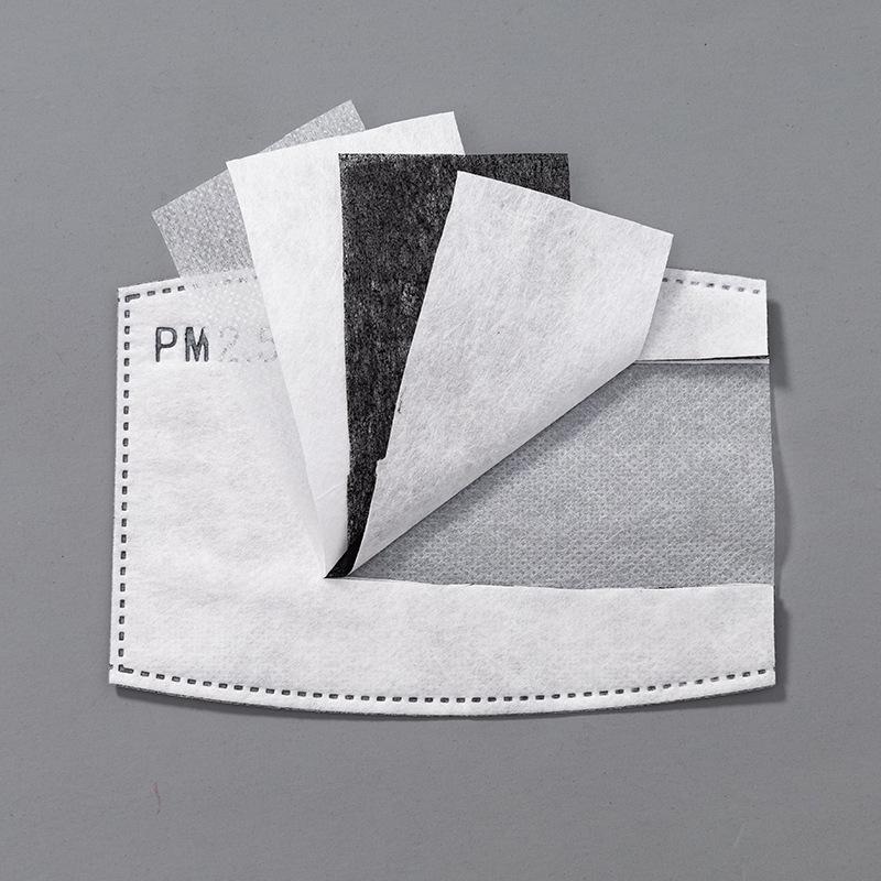 5layers Filtro al pad carbonio Maschera di protezione goccioline sostituibile Mask Cartuccia filtro per Bocca Maschera Anti Haze PM2.5 Filtri FFA3996