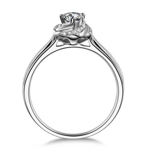 2020 18k White Gold Plated 1ct Sona Simulated Diamond Wedding Ring
