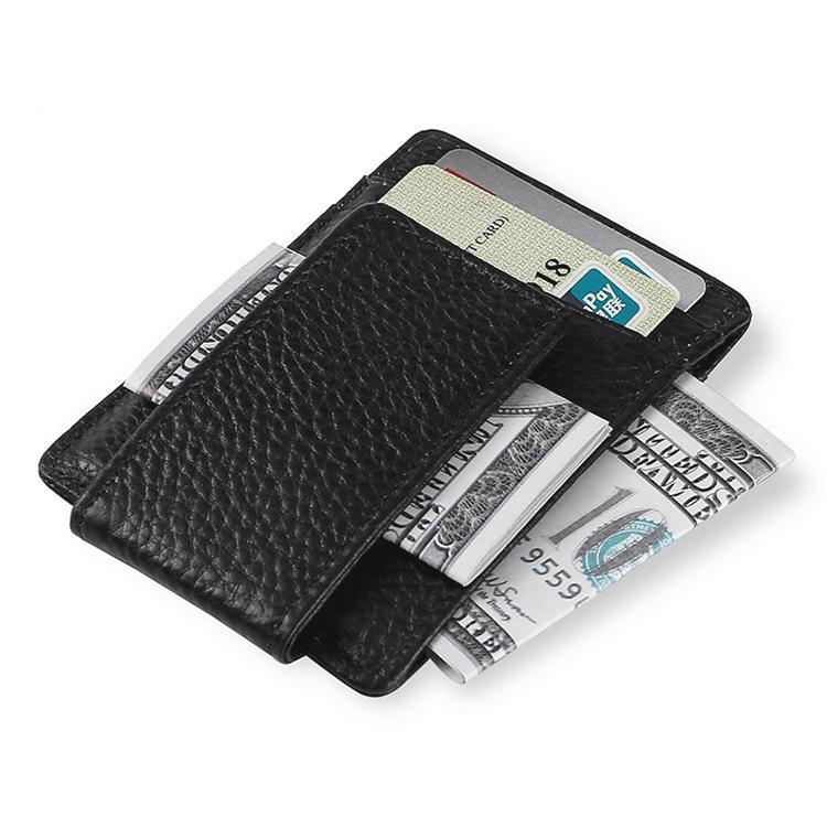 جودة عالية جلد البقر حصاة رجال الأعمال المال كليب الأزياء بطاقة حالة بطاقة حزمة