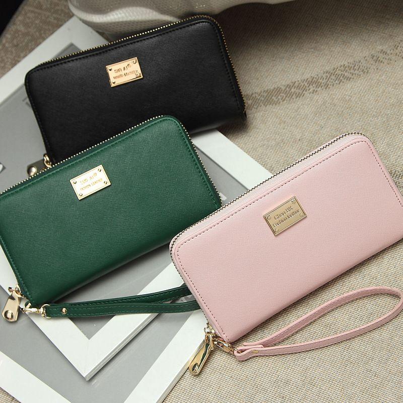 대용량 고급 왁스 클러치 멀티 카드 주최자를 차단 새로운 가방 정품 가죽 지갑 여성의 RFID