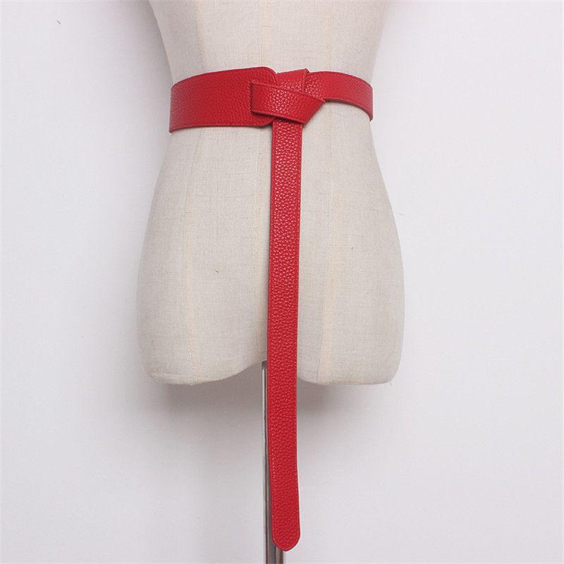 wholesale Fashion Women Genuine Leather Belt Simple Long Tied Waist Belt Female Girdle Decoration Mujer Straps For Women Dress