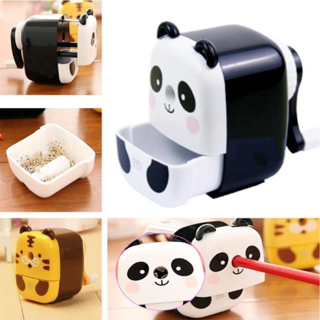 ducation & Office Supplies Cute Cartoon Animals Pencil Sharpener Kawaii Stationery Kids Gift Panda Hand Crank Manual Pen Cutter Tool Scho...