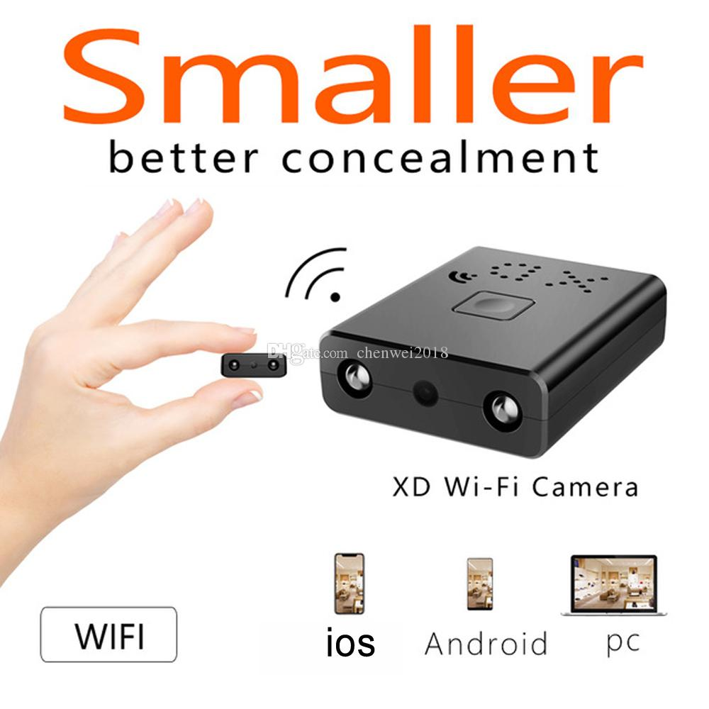 Smallest Mini XD Wifi Camera HD 1080P Infrared Night Vision MINI DV DVR Surveillance IP/AP Camera Motion Detect Remote Alarm Camcorder