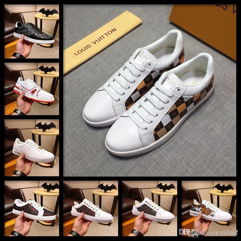 18ss Brand zapatos casuales zapatos para hombre y transpirable lona para los hombres Moda Alpargatas planos de los hombres zapatos de lujo informal Formadores Hombre Calzado MADAF