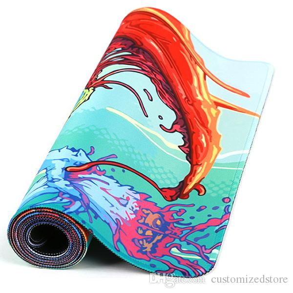 Custom vape mats printing logo or design large build mouse pads OEM privately made vapor mats