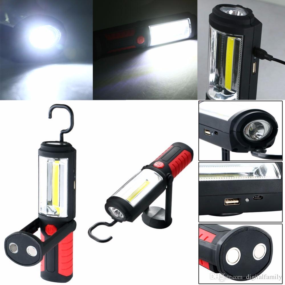 Clave de LED lámpara-Soporte Magnético de mosquetón lámpara linterna luz de trabajo