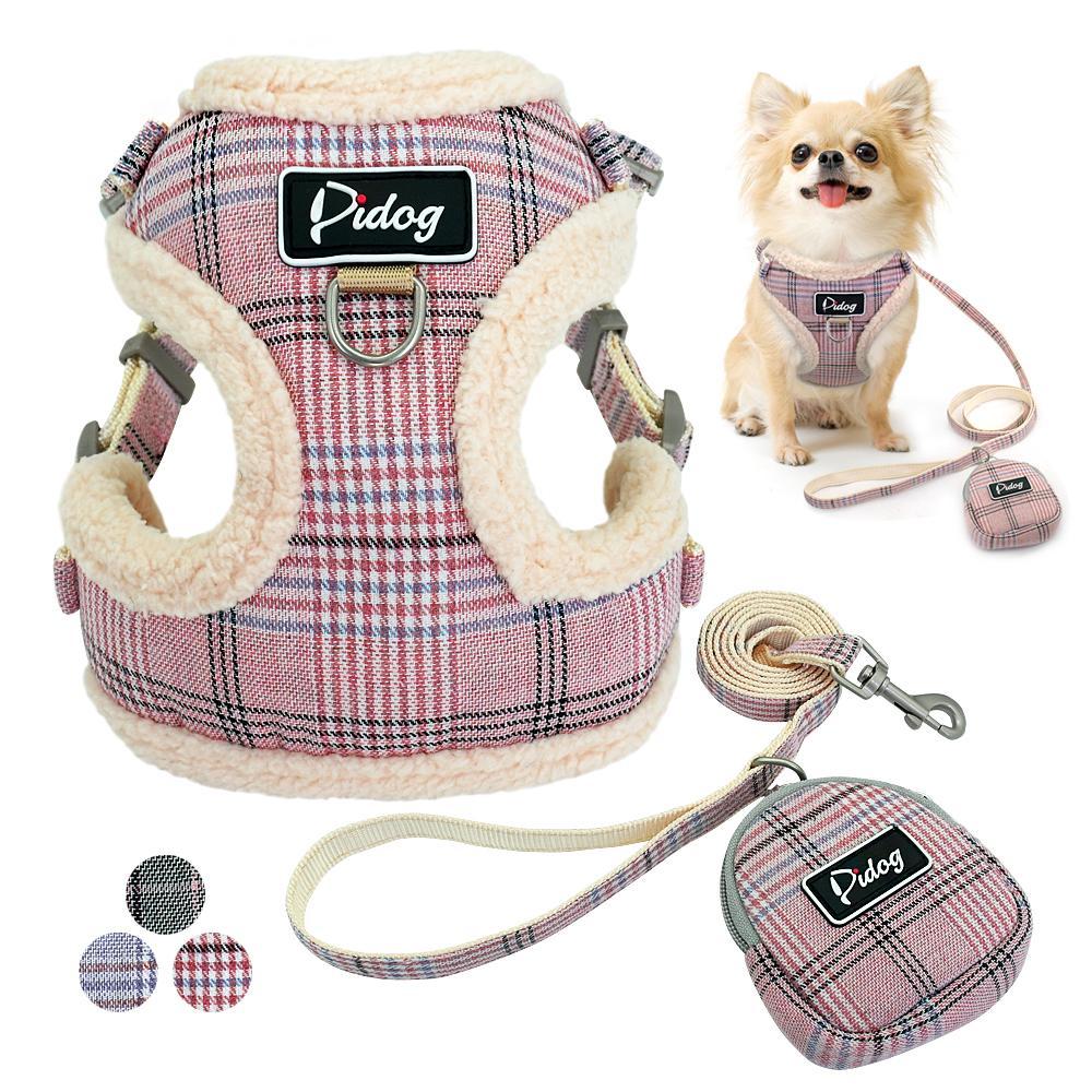 Мягкая Pet Dog шлейки Vest Нет Вытащите Регулируемая Чихуахуа щенок Cat Harness Поводок Набор для Маленький Средний Собаки Coat Årnes Perro
