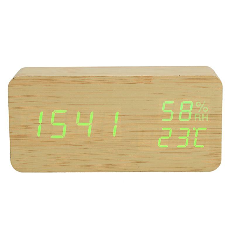 قاد الحديثة المنبه الرطوبة درجة الحرارة الإلكترونية سطح المكتب الرقمي الجدول ساعات