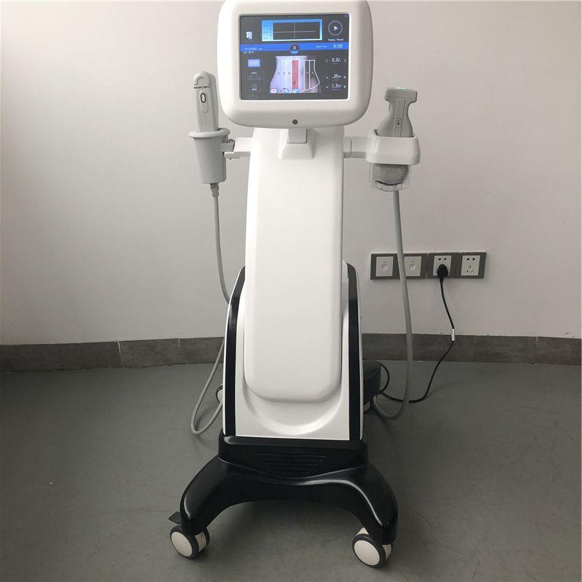 Neueste 2-in-1-HIFU-Technologie Leistungsstarkes, hochintensives Gerät zur Gewichtsreduktion mit Ultraschall zur Körperformung und zum Facelifting