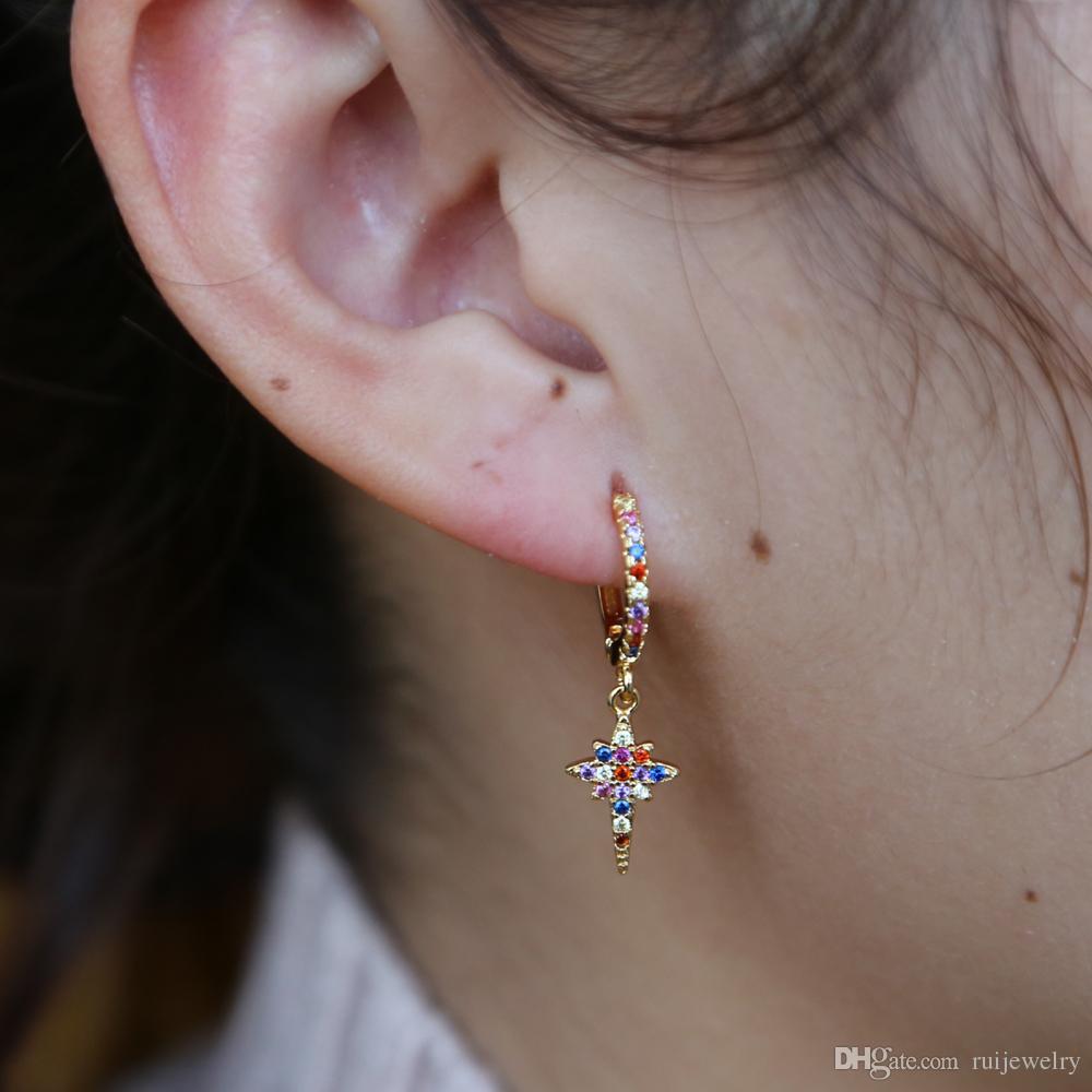 Grenat Sterling Silver Dangle Coeur Boucles d/'oreilles EAR310006