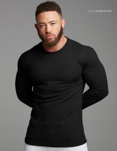 Uzun Kollu Katı Renk Tshirts Moda İnce Mürettebat Boyun Sport En Popüler Basit Erkek Giyim Erkek Tasarımcı