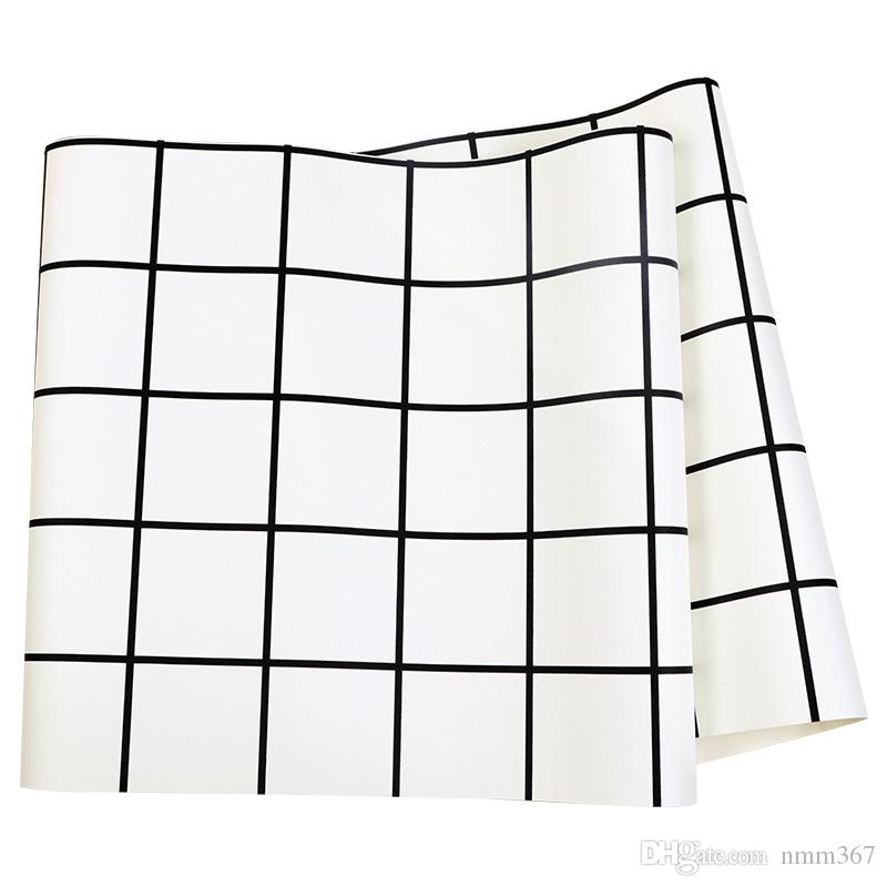 Nordic Geometric 3d Wall Papers Black And White Grid Pvc Vinyl Wallpaper Roll 3d For Living Room Background Free 3d Wallpaper Free 3d Wallpapers From Nmm367 20 90 Dhgate Com