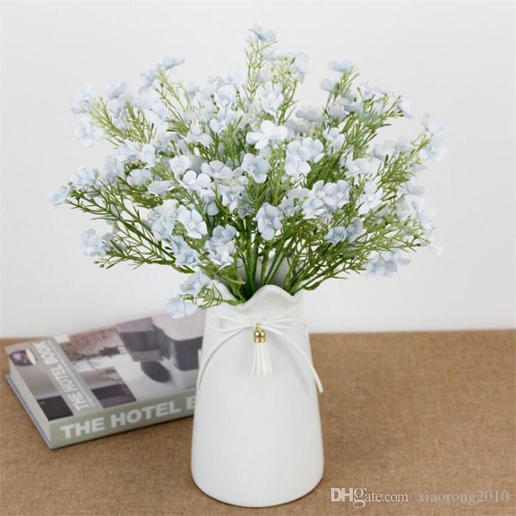"""Faux Plum Blossom (5 stmes / pièce) 12.99"""" Longueur Simulation Wintersweet fleur de mariage décoratifs pour la maison Fleurs artificielles"""