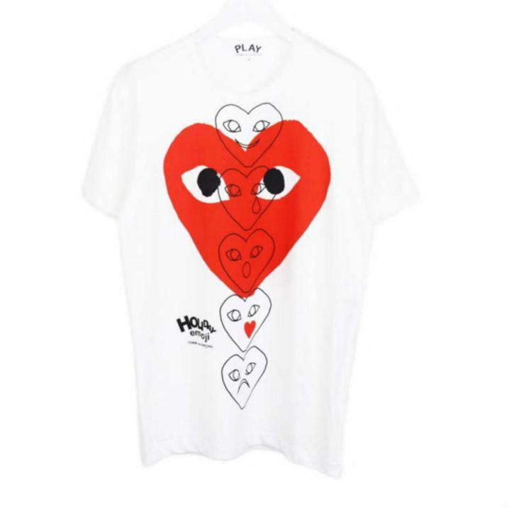 Designer Men T Shirt 2020 Verão New Designer Tshirts Luxo camiseta de manga curta Tees Coração Imprimir engraçado Top Tees