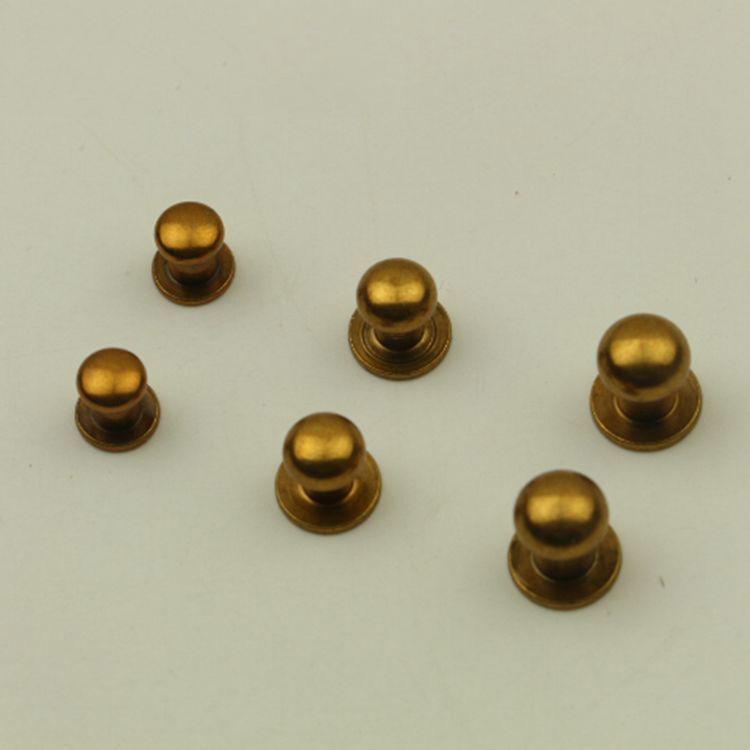 Tasto rotondo testa della vite borchie di metallo Fibbie Nails Rivet Portafoglio Cintura Fastener fibbia in pelle mestiere di DIY Borsa Accessori