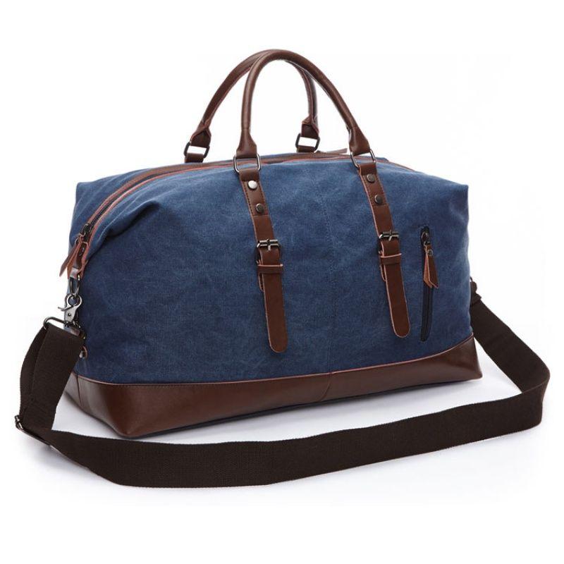 Llevar Men Lienzo Bolsas de equipaje Cuero grande en bolsas de viaje Weekender Dropshipping Bag Hombres Travel Bolso Tote Duffel HUUSF LFJSU