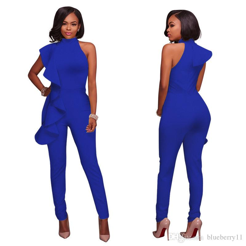 fashion shop for newest Good Prices Summer Sexy Jumpsuits Solid Black White Women Ladies Sleeveless Clubwear  Party Jumpsuit Romper Long Trousers S XL UK 2019 From Blueberry11, UK ...