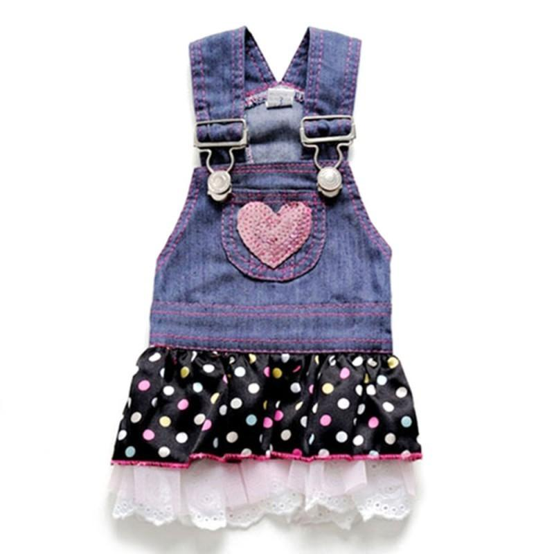 Pet Dog Dress Cat Strap Lace Skirt Cute Dot Puppy Clothes Apparels Size Xs S M L Xl Cute For Small Dogs Princess Dress