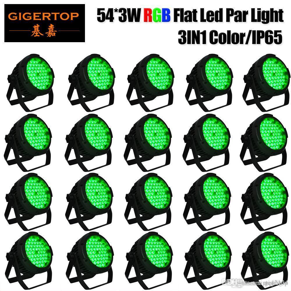 TIPTOP 20 Paketi 54x3W LED RGB PAR CAN DJ Sahne DMX Aydınlatma İçin Disko Parti Düğün Aşağıdan IP65 İçin Açık Konser Tiyatro Sualtı