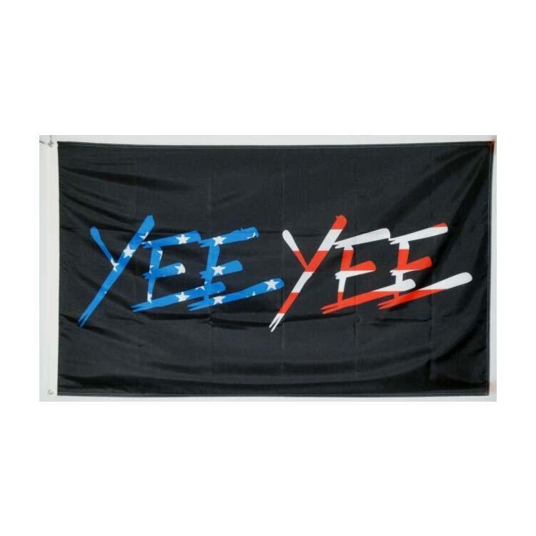 YEE Bandeira YEE Preto 3x5ft poliéster Clube Sports Indoor Com 2 guarnições de latão, frete grátis