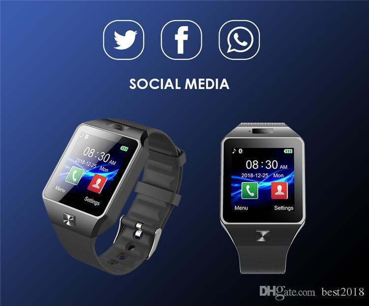 SmartWatch DZ09 Android GT08 U8 A1 Samsung умные часы SIM Интеллектуальные часы мобильного телефона могут записывать состояние сна Смарт-часы 10 шт. DHL