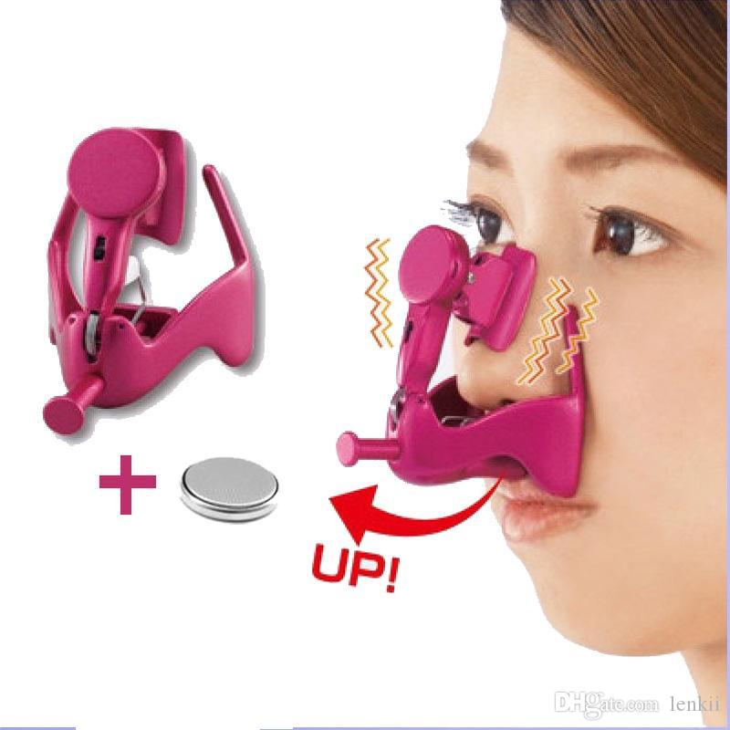 Electric Vibro Nose Massage Nose Clip Up Nose Lifting Shaping Shaper Bridge Straightening Massager With Lithium Battery