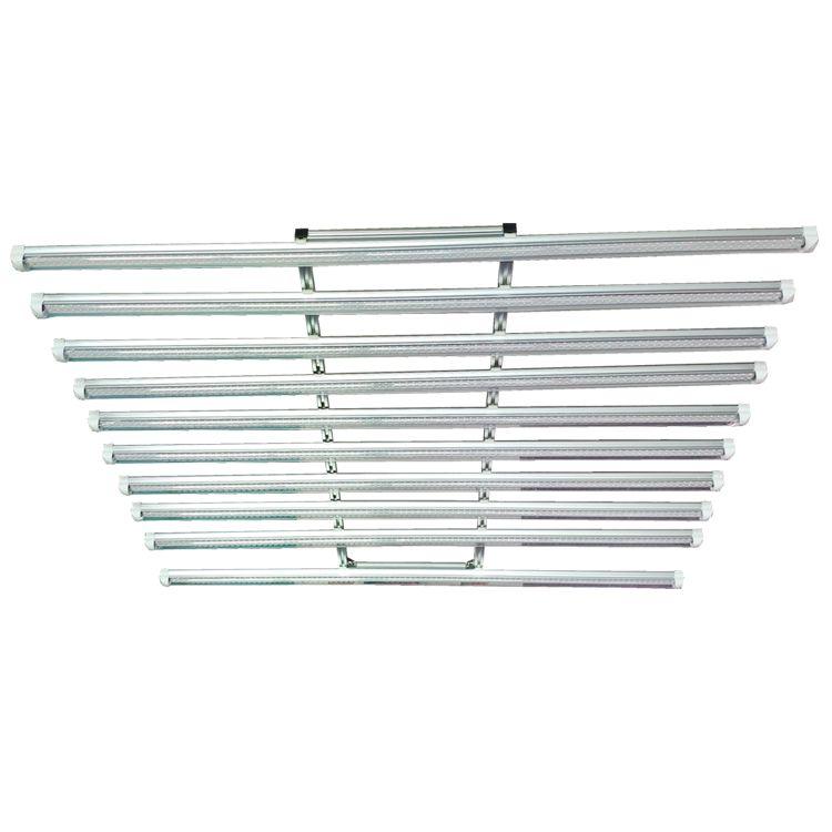 LED Cultive Light Bar Fixture 360W Full Spectrum LED Crece luz 120cm Invernadero Hidropónico Medica 10 en 1 192 * Tubo de cultivo de planta de 0.5W