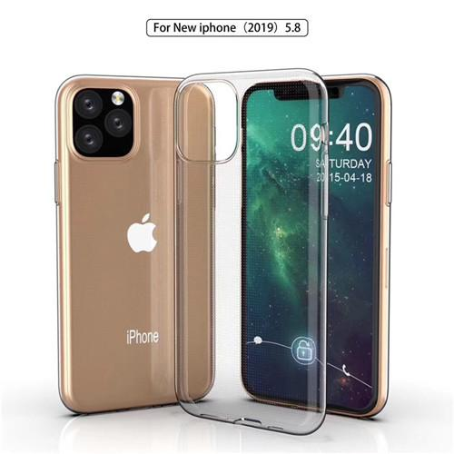 Para el iphone 11 11Pro 11Pro Max Max XS XS XR X 8 7 6 5 4 Case Super Slim claro transparente de la cubierta de TPU liso suave brillante