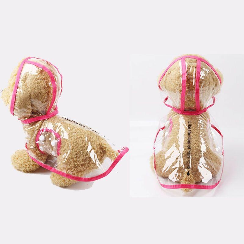 Nouveau mode Chien Chat pluie transparent Manteau PVC imperméable pluie à l'extérieur Manteau Impermeable Veste Vêtements pour chien Puppy Pet XS-2XL