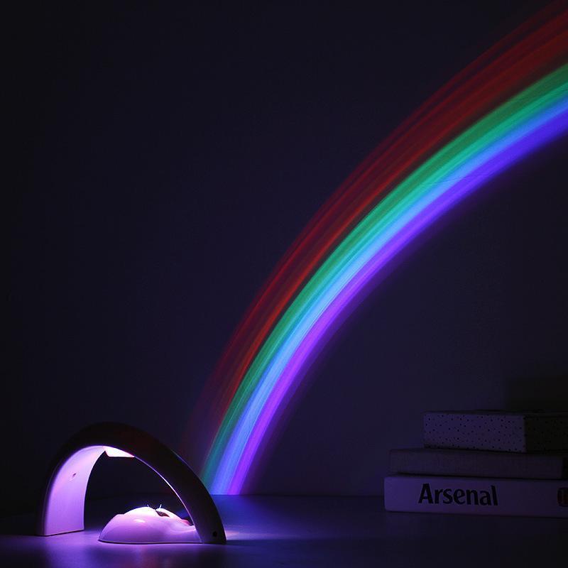 Новый светодиодный Новизна Радуга лампы Радуга проектор света Второе поколение LED Радуга проектор лампы LED Night Light