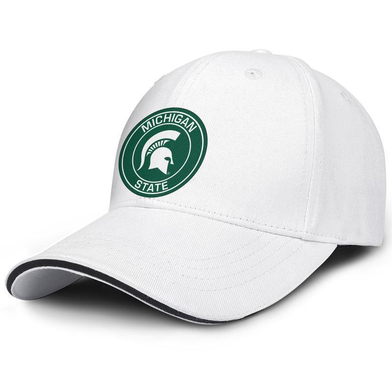 Штат Мичиган спартанцы круглый логотип водитель грузовика регулируемый сэндвич шляпа дизайн прохладный персонализированный колпачок спартанцы-3 спартанцы-4 баскетбол