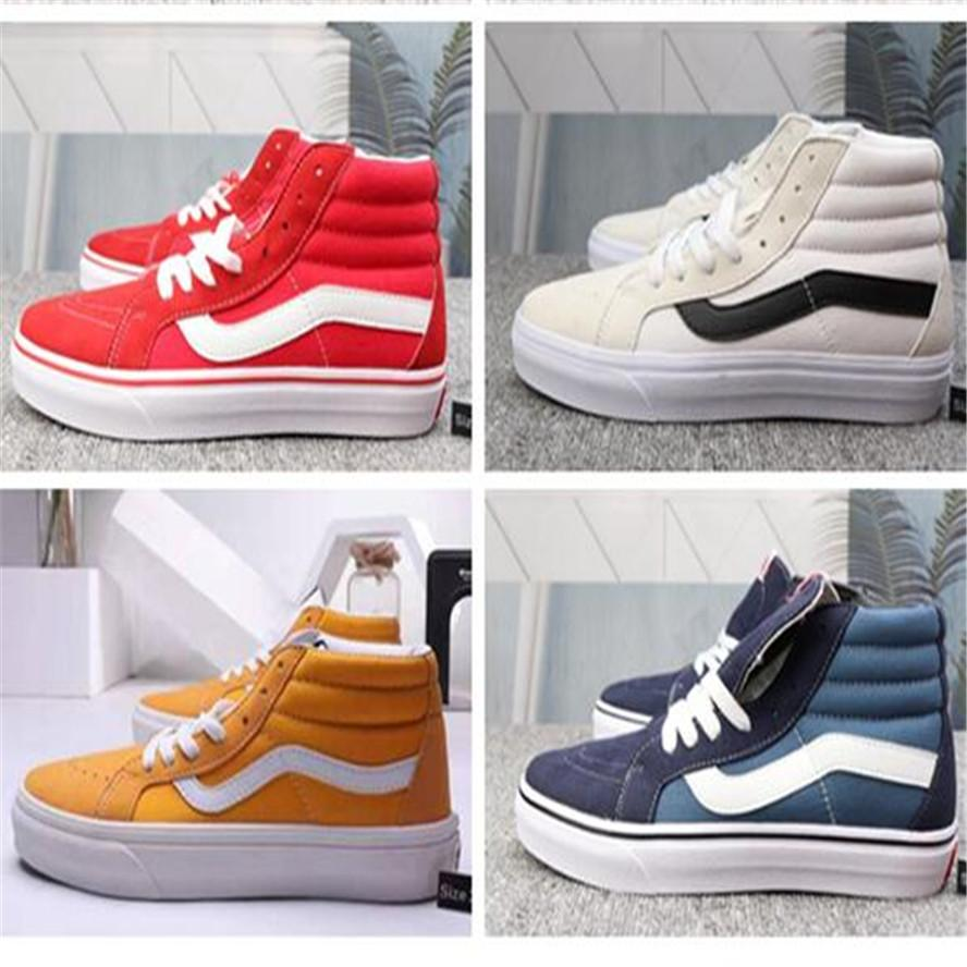 2020 Original Van old skool black white yacht club FEAR OF GOD Slip On Checkerboard Red canvas mens sport sneakers casual shoes