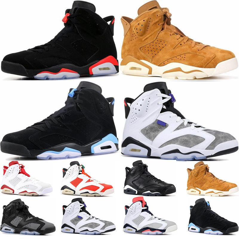 Mens basketball shoes 6s trainers infrared release UNC Tinker hatfield Golden harvest Black Cat sports sneaker shoes size 7-13