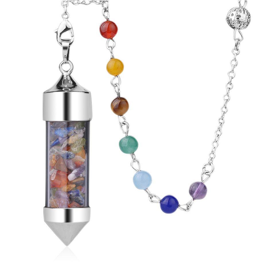 Beste Naturstein-Anhänger für Halsketten Kugelpendel Tigerauge Jade Halskette Natürliche Malachit Stein Rosenquarz Anhänger heilende Kristall