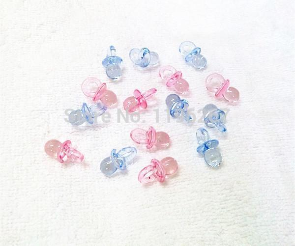 Toptan-100 adet sevimli şeffaf aptallar bebek duş parti ıyilik hediyelik eşya emzik charms dekorasyon vaftiz hediye