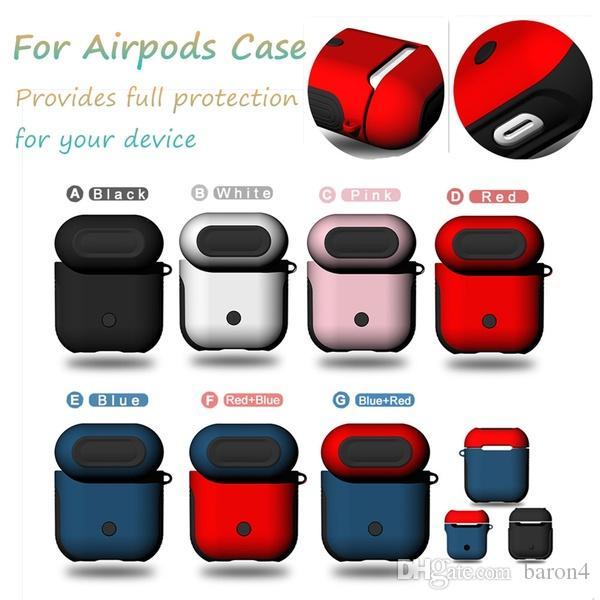 iPhone perakende paket için El Kayışı Bluetooth Kablosuz Kulaklık Kılıf Darbeye Kapak Karşıtı damla Aksesuarlar ile Hibrid PC TPU Airpods