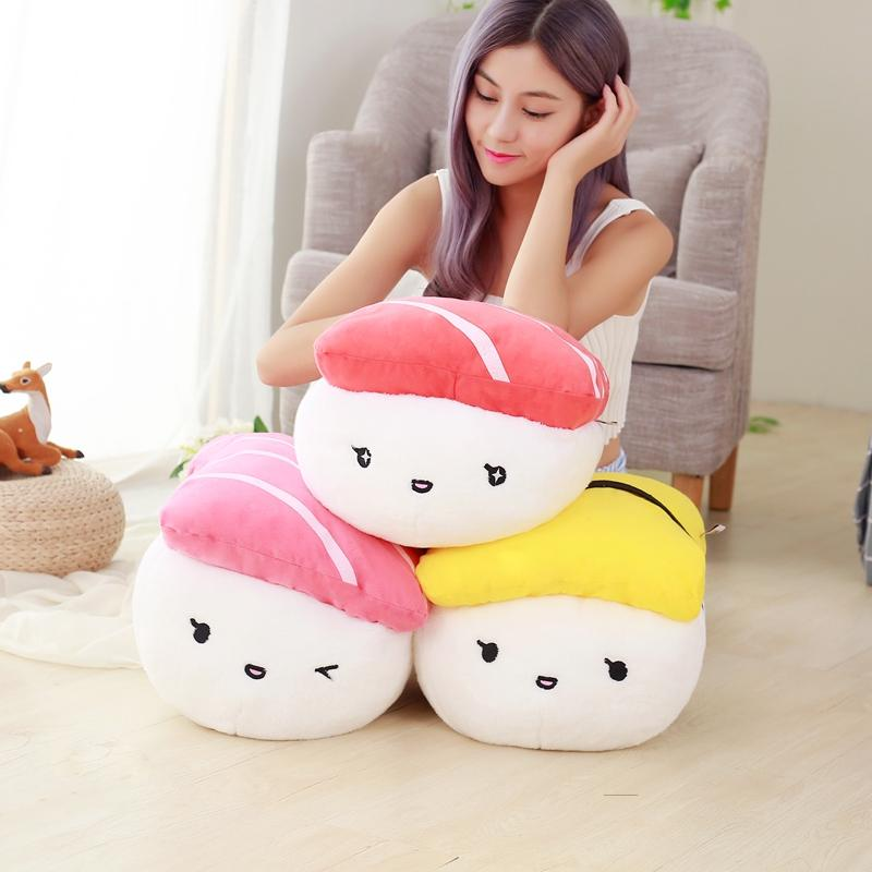 1pc 40cm Creative Japan Sushi Shape Plush Toys Stuffed Soft Sofa Pillow Kawaii Cushion Simulation Food Doll Gift for Girls Kids