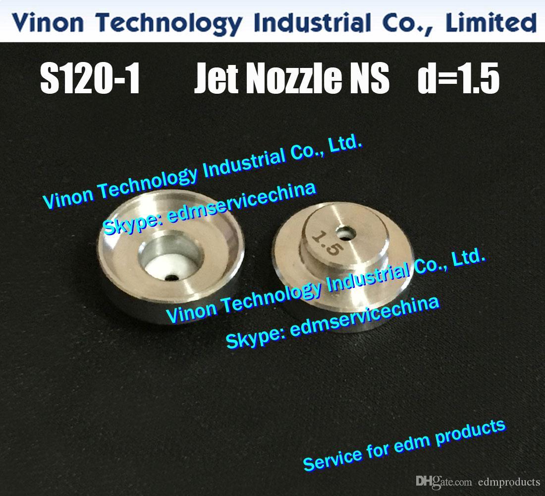 Ø1.5mm S120-1 제트 노즐 NS (스테인레스 + 세라믹) AQ, AD, AG, AQ400, AQ600, AG400에 대한 0205997 위 FJ-AWT, AG600 EDM 물 노즐 11826LA