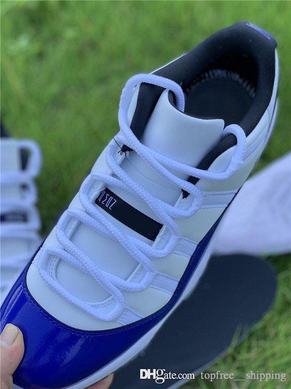 2020 En Hava Otantik 11 Düşük WMNS Concord Basketbol Ayakkabı 11S Erkekler Kadınlar Siyah Beyaz Retro Atletik Spor ayakkabılar ile Kutusu AV2187-160