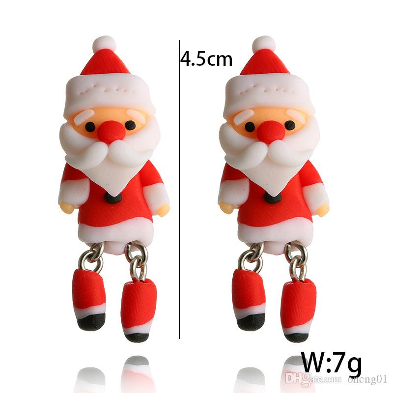 Father Christmas Cartoon Images.2019 Cartoon Father Christmas Santa Claus Earrings For Women Creative Handmade Polymer Clay Earrings Personality Party Jewelry From Oneng01 0 96
